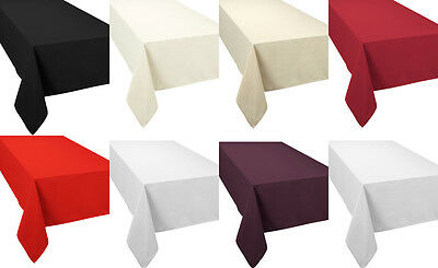 Luxury Plain Tablecloth Table Linen Napkins Placemats Table Runner All Sizes
