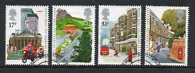 GB 1985 350 Years royal Mail fine used set stamps