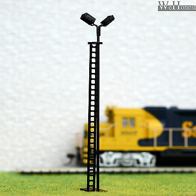 4 pcs HO scale Model Yard Light Cold SMD LED made Cold Lamppost longlife #R44