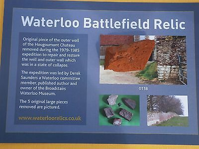 Waterloo battlefield large piece of Hougoumont Chateau outer wall