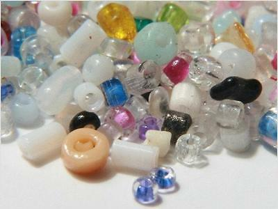 Lot (1300) 2-5mm Bohemian Czech vintage mixed color spacer seed glass beads