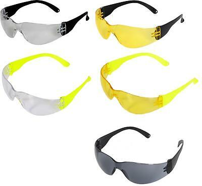 UCI I-907 Java Safety Glasses Eye Protection Clear Yellow Smoke Lens Hi Vis