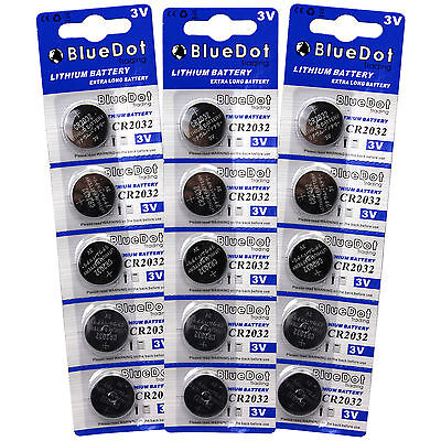 15 ECR2032 5004LC CR2032 DL2032 3 Volt Lithium Button Cell Battery USA US Ship