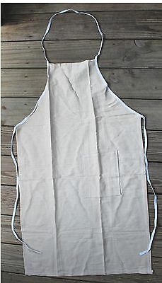 Canvas Duck Apron Bib Style With Side Pocket 24x40