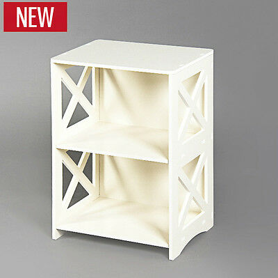 New White Hollow Carved Kitchen Bathroom Storage side table