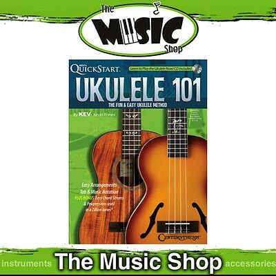 New Kev's Quickstart Ukulele 101 Music Tuition Book with CD