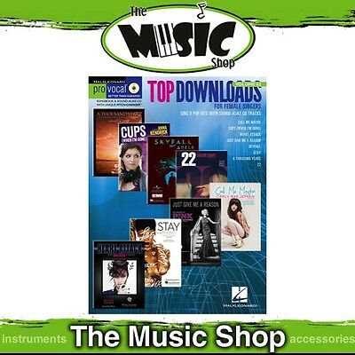 New Top Downloads Pro Vocal Women's Edition Book & CD - Volume 62