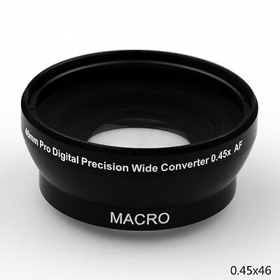 46mm 0.45x WIDE Angle LENS 62mm Front Thread for Canon Panasonic Nikon Sony