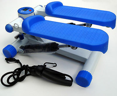 Mini Stepper Fitness Workout Toning Machine with Training Ropes Hydraulic