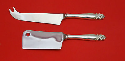 King Christian By Wallace Sterling Silver Cheese Srvr Serving Set 2P Hhws Custom