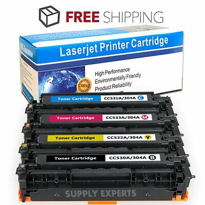 4PK Color Toner Set CC530A CC531A CC532A CC533A For HP LaserJet CM2320 CP2025
