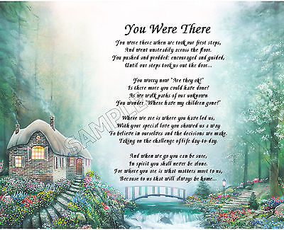 You Were There Parent Personalized Print Poem Memory Gift