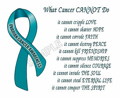 Ovarian Cancer Awareness What Cancer Cannot Do Personalized Poem Memory Gift