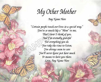 My Other Mother Personalized Art Poem Memory Birthday Mothers Day Gift