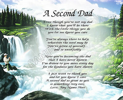 A Second Dad Personalized Poem Memory Gift