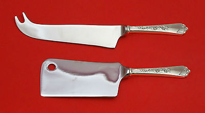 Sterling Rose By Wallace Sterling Silver Cheese Srvr Serving Set 2Pc Hhws Custom