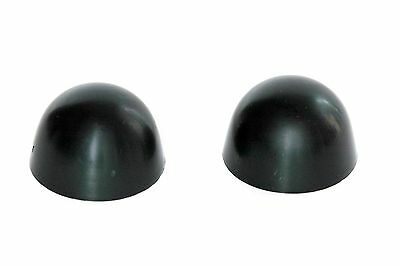 SILVER GRAY Universal Rundle Color Toilet Bolt Caps Set of  2