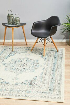 Nz Wool Plain Colour Ivory Natural Thick Floor Rug 20mm Thick 160x230cm