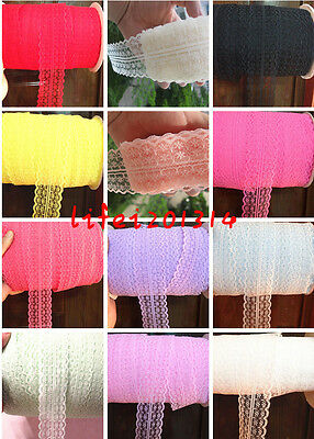 Boutique! Bilateral Handicrafts Embroidered 10 Yard10 color Net Lace Trim Ribbon