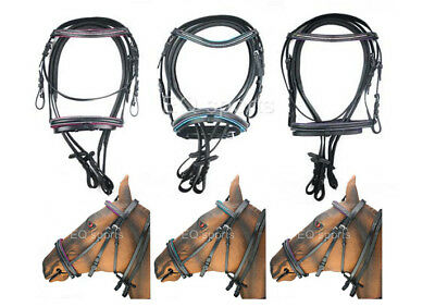 REDUCED MUST GO! Stunning Pink, Blue & Purple Diamonte/Diamante Bridle ALL SIZES