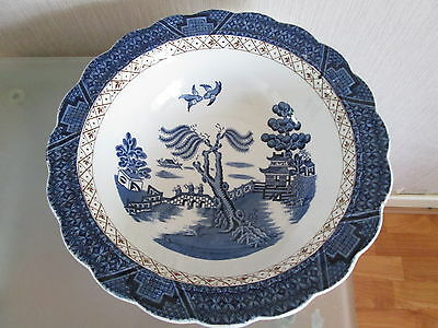 Booths Real Old Willow (A8025) Blue & White Serving Bowl -10 Inch 25cm Diameter