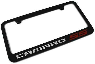 CHEVROLET CAMARO SS License Plate Frame Black Powder Coated Metal Engraved