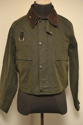 *super Rare* Barbour A130 Spey Wading Fishing Wax Cotton Jacket Green Large Eh12