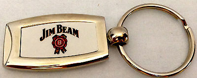 NEW Jim Beam Key Ring Key Chain Silver Color with Logo Keychain Keyring
