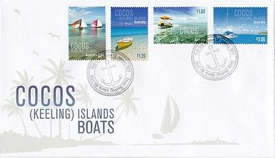 Cocos Islands 2011 Boats FDC