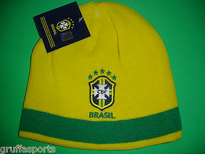Brazil Embroidered Beanie Official CBF Licensed Product Soccer Football New