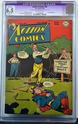 ACTION COMICS #99 CGC 6.5 Superman 1946 1st Small Logo issue