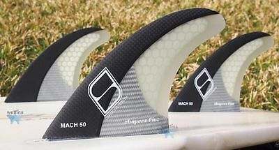 Shapers Fins - Mach 50 (Futures) - Metallic - Medium/Large - Thruster -Surfboard