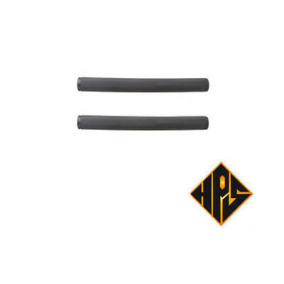 2X STUNT SCOOTER BMX BLACK LONG GRIPS 175mm TOUGH RIDE BUILT IN SOFT RUBBER ENDS