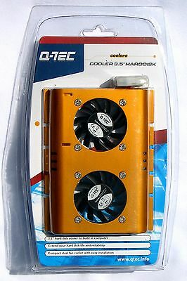 "High Quality Dual Fan Cooler & Aluminium Heatsink For 3.5"" Hard Disk Drives"