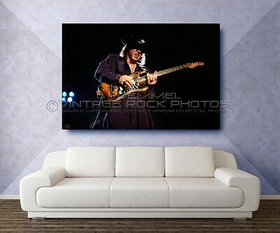 Stevie Ray Vaughan 40x60 inch Poster Photo Live Concert March '88 Akron, OH L35