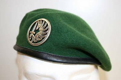 GENUINE FRENCH FOREIGN LEGION PARACHUTE PARA 2ND REP BERET SIZE 61 7 5/8  ORIG
