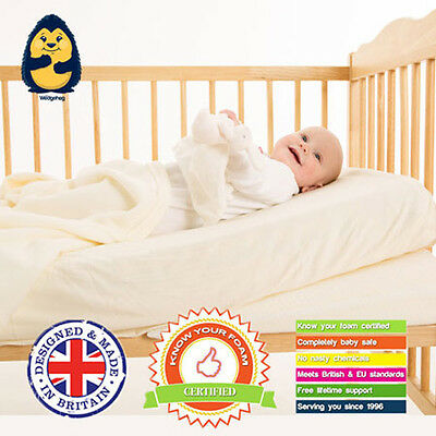 Cot Wedgehog® Reflux Wedge/ Pillow (60cm) - with Free Bundled Reflux Guide