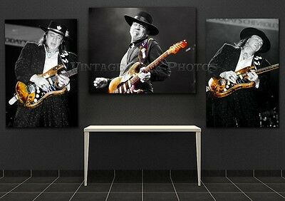 Stevie Ray Vaughan Posters Trio Set of 3 Pro Canon Studio Lab Ltd Ed Photos A1