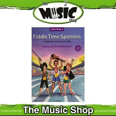 New Fiddle Time Sprinters: Violin Book 3 Music Tuition Book & CD