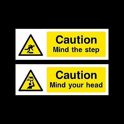 Mind your Head / Mind the Step Sign, Sticker - All Sizes & Materials