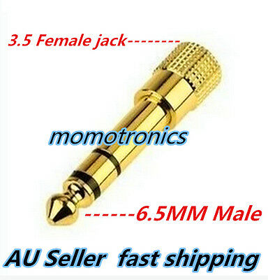 Gold plated 6.5mm Male to 3.5mm Stereo Female Aux Audio Headphone Jack Adapter