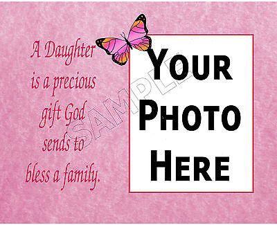 Daughter Photo Frame Personalized Print Birthday Memory Gift
