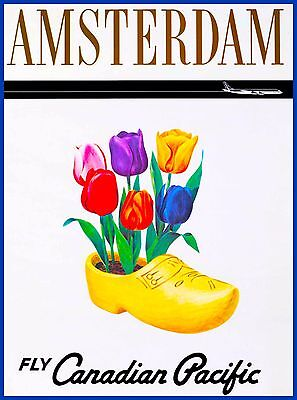 Amsterdam Dutch Shoes Holland Netherlands Europe Travel Art Poster Advertisement
