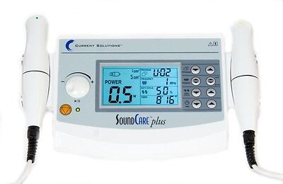 Current Solutions DQ9275 SoundCare Plus Ultrasound Therapy Device 2 Sound Hds ##