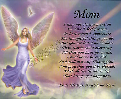 Mom Personalized Art Poem Memory Birthday Mother's Day Gift