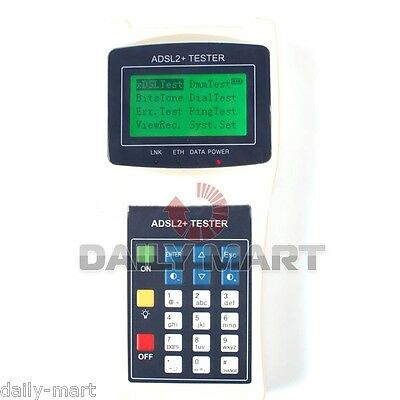 NEW ADSL ADSL2+ XDSL Line Network Tester Cable Ping Meter RS232 Test Instrument