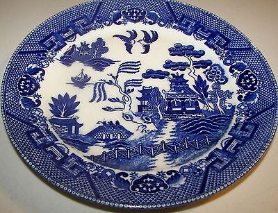 """Occupied Japan Blue Willow Dinner Plate 9"""""""