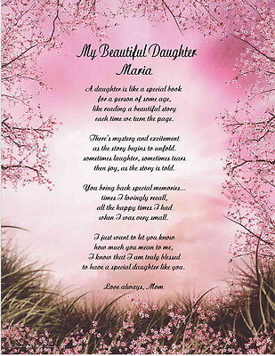 Daughter Personalized Poem Gift For Birthday, Graduation Christmas