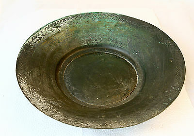 ANTIQUE 1924`s End of the Ottoman Empire TINNED COPPER FOOD DISH PLATE - SIGNED • CAD $62.99