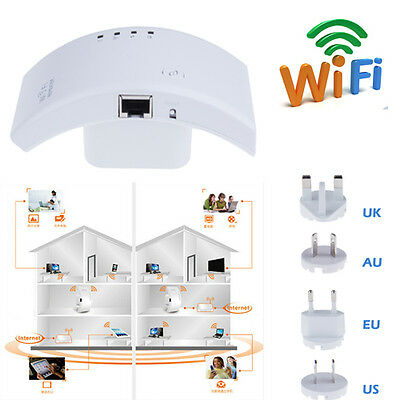 Wireless Wifi 802.11N Repeater Router Range Expander Signal Booster 300Mbps EU